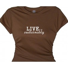 A Gardening T Shirt Message - Live Sustainably